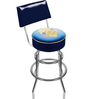Trademark Games Police Officer Padded Swivel Bar Stool with Back