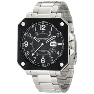 Freestyle Men's Trooper Silver Stainless Steel Quartz Watch