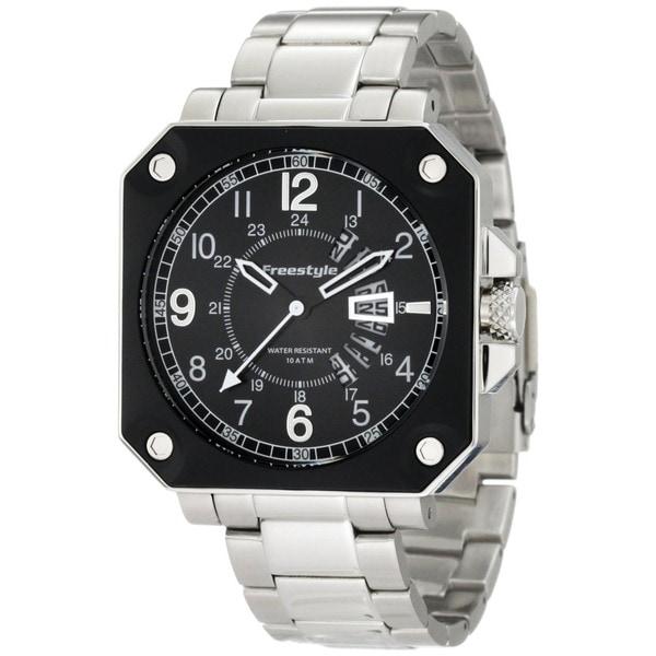 Freestyle Men's Trooper Silver Stainless Steel Quartz Watch