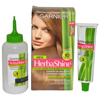 Garnier HerbaShine Color Creme with Bamboo Extract # 630 Light Golden Brown Hair Color