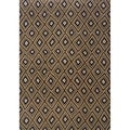 Indoor Grey and Brown Geometric Area Rug (5'3 X 7'6)
