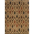 Indoor Gold and Beige Geometric Area Rug (9'10 X 12'10)