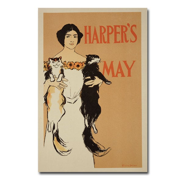 Edward Penfield 'Harper's Magazine May 1897' Canvas Art
