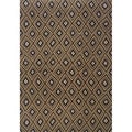Indoor Grey and Brown Geometric Area Rug (6'7 X 9'6)