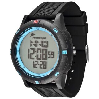 Freestyle Men's 'Navigator 3.0' Black Silicone Digital Compass Watch