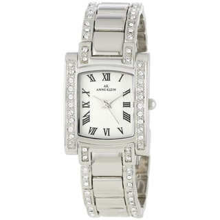 Anne Klein Women's Steel Crystal-accented Watch