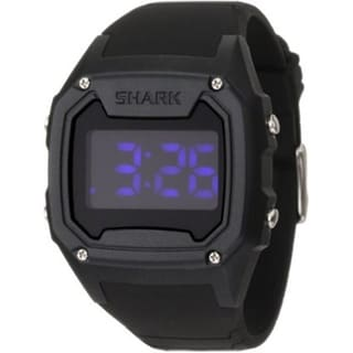Freestyle Men's 'Shark' Black Silicone Purple Digital Watch