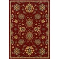 Red Wool-blend Area Rug (5'3 x 7'6)