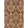 Brown/ Ivory Area Rug (5'3 x 7'6)