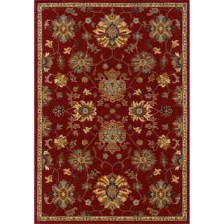 Red Wool-blend Area Rug (6'7 x 9'6)