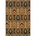"Modern Blue/Gold Area Rug (6'7"" x 9'6"")"