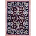 Indo Hand-tufted Mahal Red/ Black Wool Rug (2' x 3')