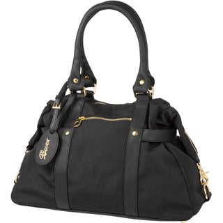 The Bumble Collection Buzz Nylon Diaper Bag in Black
