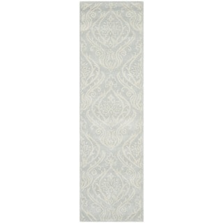 Safavieh Handmade Bella Silver Wool and Viscose Rug (2'3 x 8')