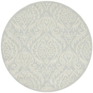 Handmade Bella Silver Wool and Viscose Rug (5' Round)