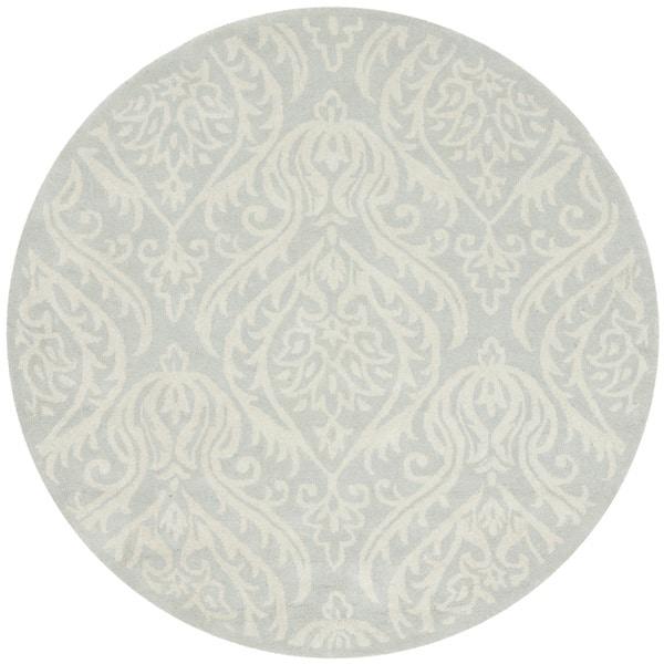 Safavieh Handmade Bella Silver Wool and Viscose Rug (5' Round)