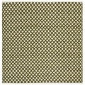 Hand-loomed Moroccan Olive Cotton Rug (4' Square)