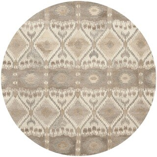 Safavieh Handmade Wyndham Natural New Zealand Wool Area Rug (7' Round)