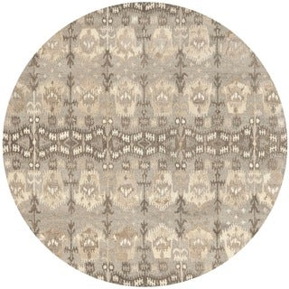 Safavieh Handmade Wyndham Natural New Zealand Wool Rug (7' Round)
