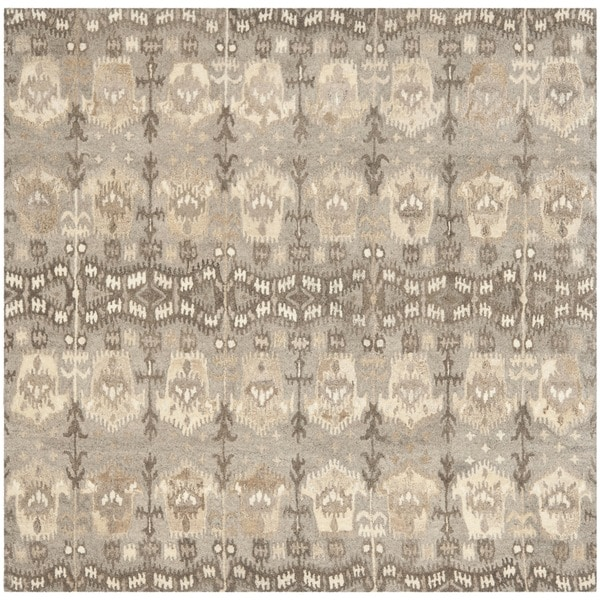Safavieh Handmade Wyndham Natural New Zealand Wool Rug (7' Square)