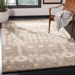 Safavieh Handmade Wyndham Natural New Zealand Wool Rug (4' x 6')