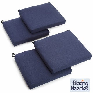 Blazing Needles 19-inch Outdoor Spun Poly Cushions (Set of 4)