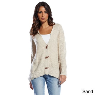Elan Women's Toggle Closure Cardigan Sweater