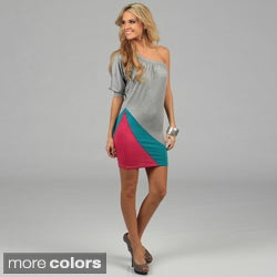 Miso Women's Color-blocked Single Sleeve Dress