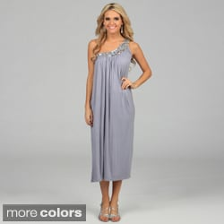 Miso Women's Sequin Single Shoulder Maxi Dress