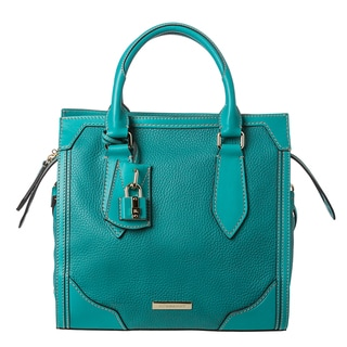 Burberry 'Honeywood' Small Teal Leather Structured Tote Bag