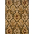 Indoor Green/ Gold Area Rug (6'7 x 9'6)