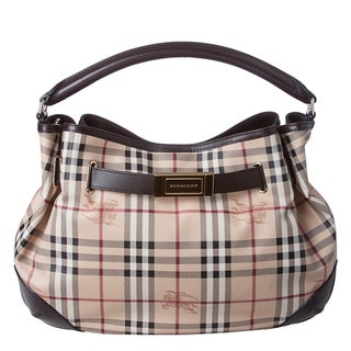 Burberry &#39;Willenmore&#39; Medium Haymarket Leather Trim Hobo Bag