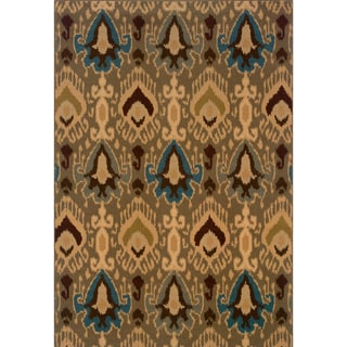 Indoor Blue/Gold Area Rug (3'10 X 5'5)
