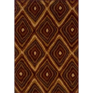 Indoor Red/Gold Area Rug (5'3 X 7'6)