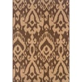 Indoor Brown/Ivory Area Rug (7'10 x 10'10)