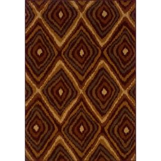 Indoor Red/Gold Area Rug (7'10 x 10'10)