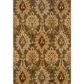 Green/ Gold Area Rug (7'10 x 10'10)