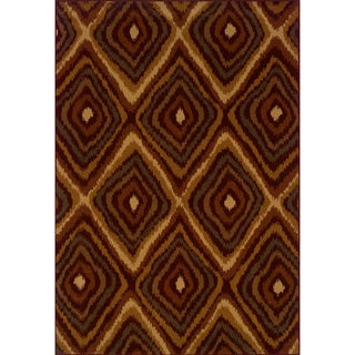 Indoor Red/Gold Area Rug (1'10 x 7'6)