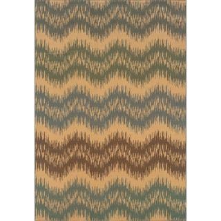 Indoor Ivory/Blue Area Rug (7'10 x 10'10)
