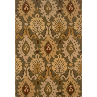 Green/ Gold Area Rug (3'10 x 5'5)