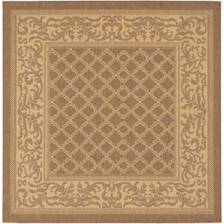 Recife Garden Lattice/ Cocoa Natural Square Rug (7'6)