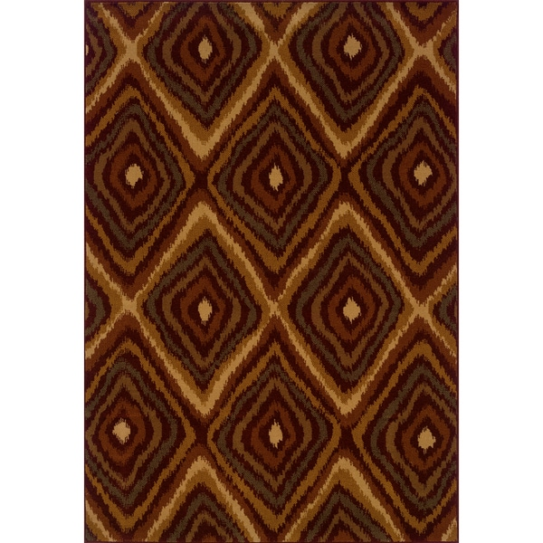 Indoor Red/ Gold Area Rug (6'7 x 9'6)