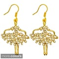 Kate Marie Goldtone Rhinestone Ballet Design Earrings