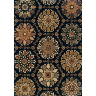 Indoor Blue/ Gold Area Rug (7'8 x 10'10)
