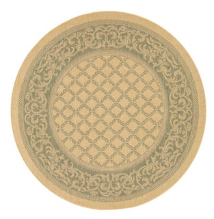 Recife Natural Garden Lattice Rug (7'6 Round)