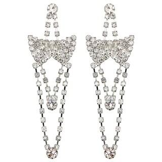 Kate Marie Silvertone Rhinestone Dangle Earrings