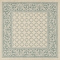 Recife Natural Garden Lattice Rug (8'6 x 8'6)