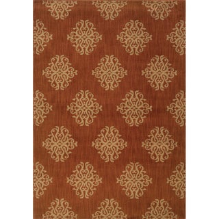 Orange/Beige Area Rug (1'10 x 7'6)