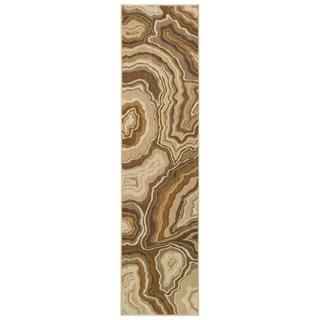 Gold/ Grey Area Rug (1'10 x 7'6)