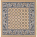 Recife Garden Lattice Natural and Blue Rug (8'6 Square)